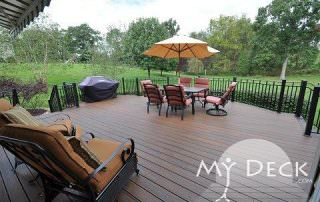 brown wood deck