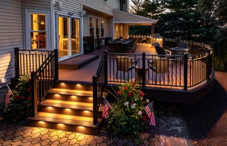 Outdoor lighting on deck